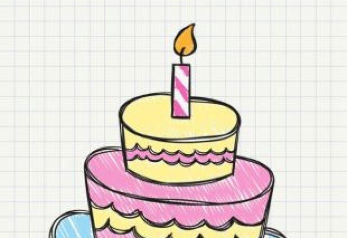 Birthday Cake Drawing Free Vector Free Vectors Ui Download