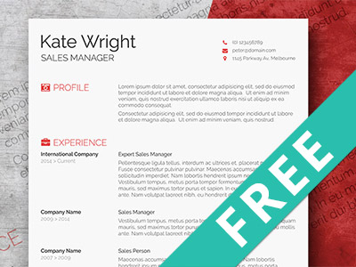 free minimalist resume template free psd ui download