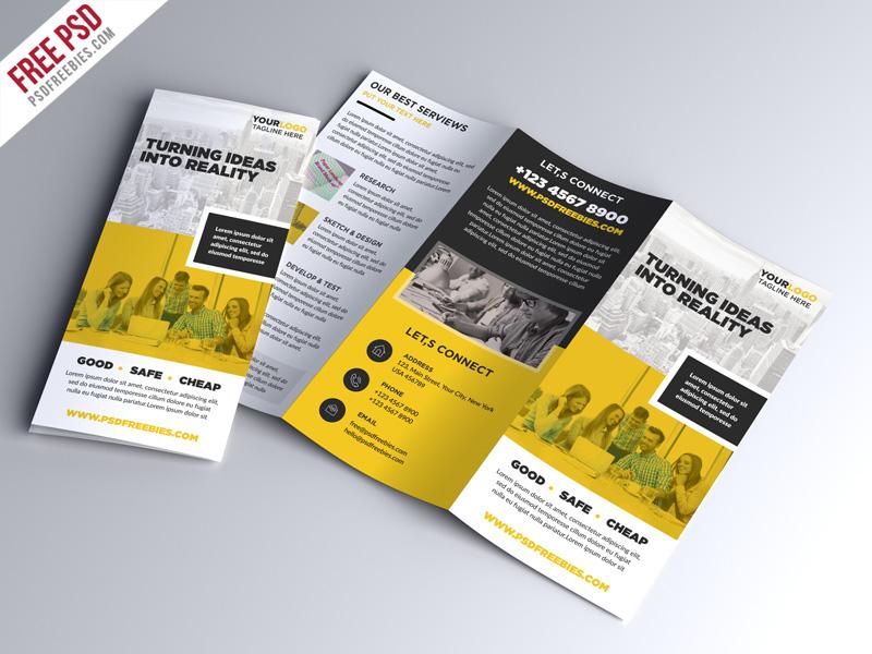 Free Psd Multipurpose Tri Fold Brochure Psd Template