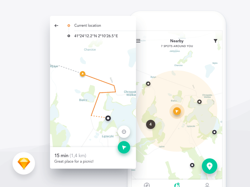 Harmony UI Kit Map Free Psd UI Download