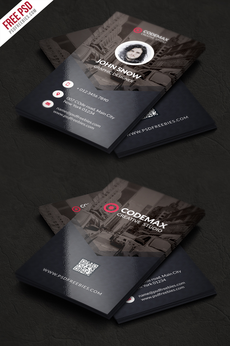 Name Card Design Template Free Download Psd In Free Psd Visiting Card Templates Download