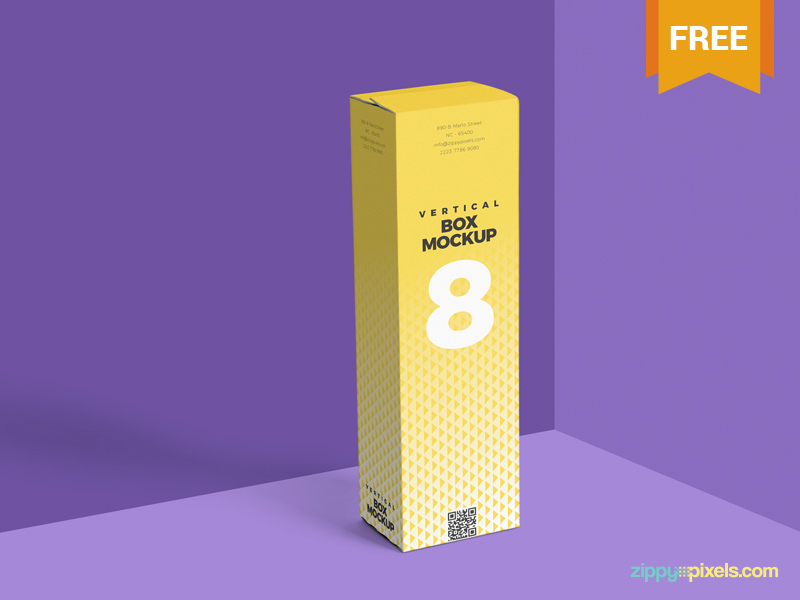 Download Free Vertical Box Mockup PSD | free psd | UI Download