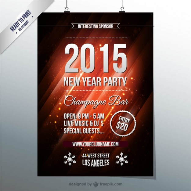 2014 Eve S Year Flyer New Party Template