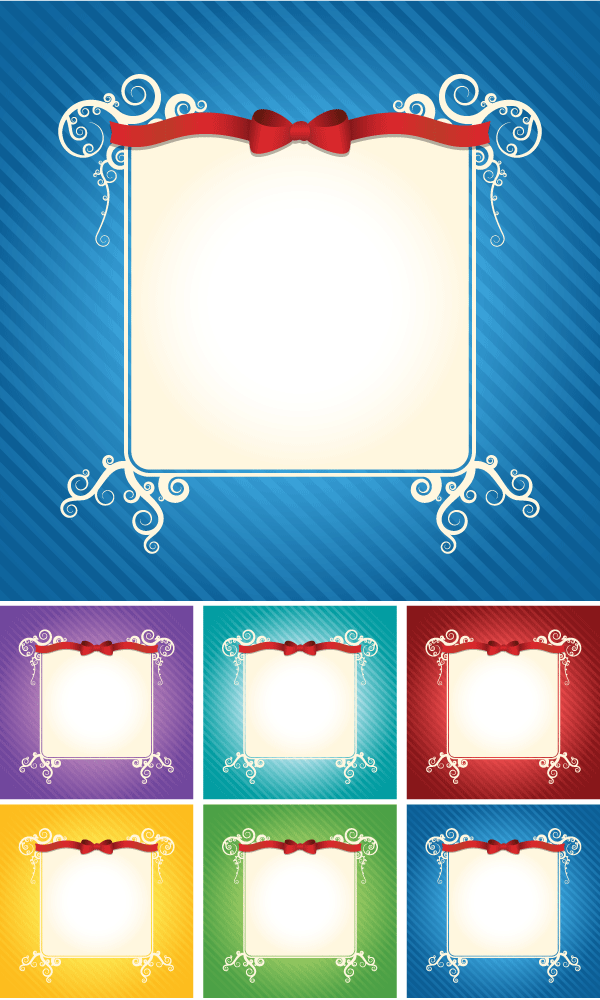 stylish invitation card vector