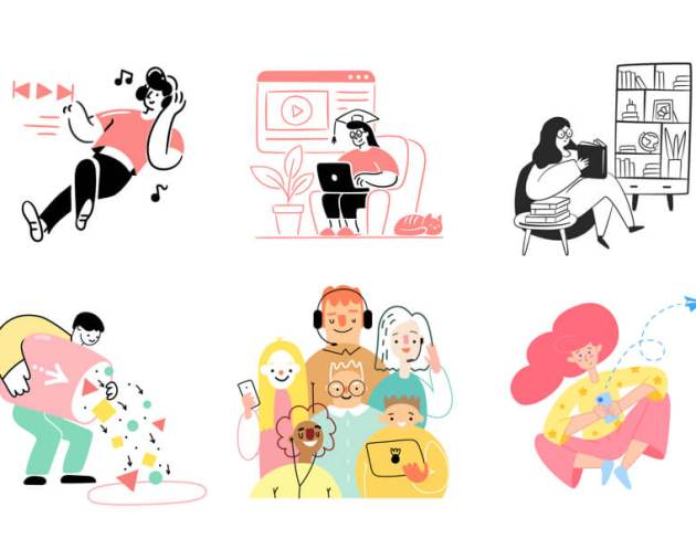 80 Streamline Illustrations Free