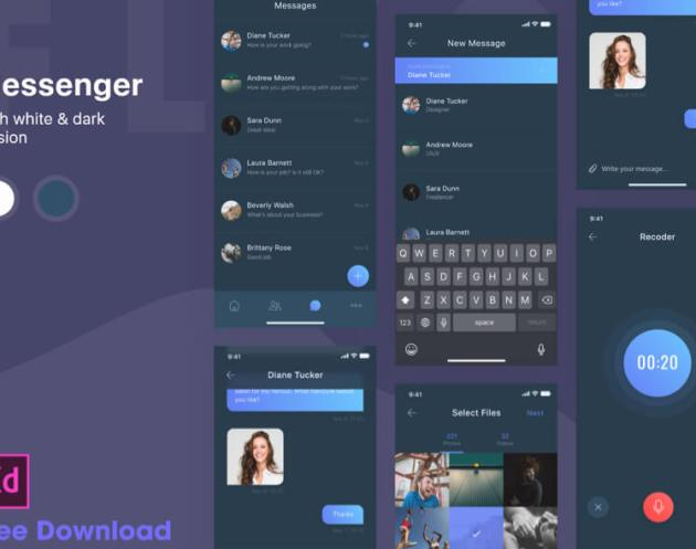 Dark Messenger App Free for XD