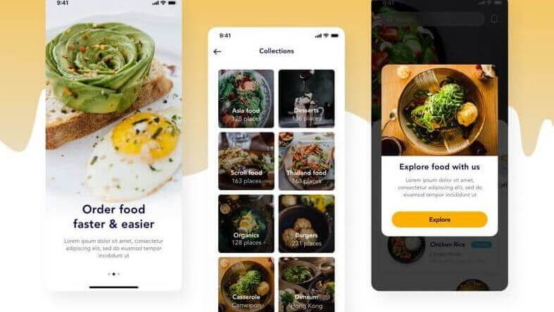 Food Order Mobile App- uifreebies.net