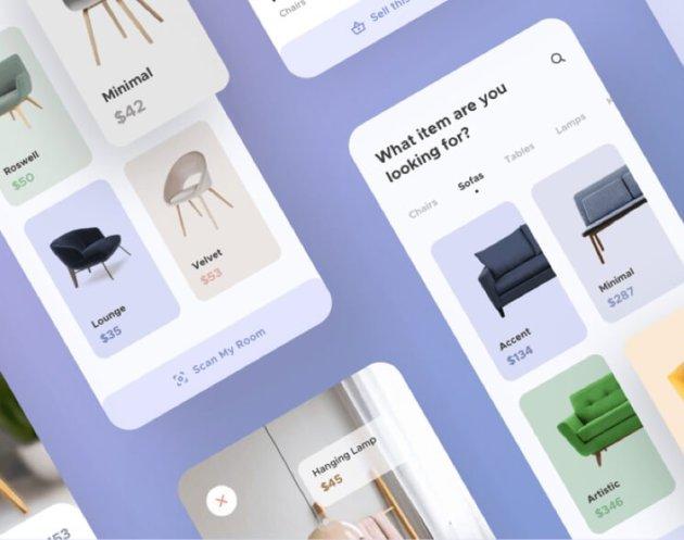 Furniture App UI Kit Free