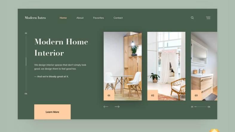 Modern Interior Website Free