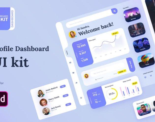 Profile Dashboard UI- uifreebies.net