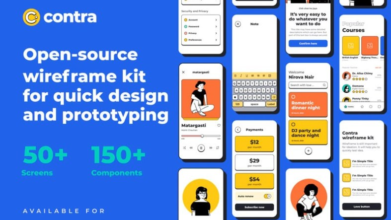Contra Source Wireframe Free