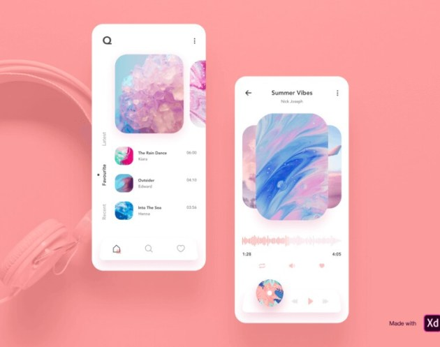Q Music – Music App Design - uifreebies.net