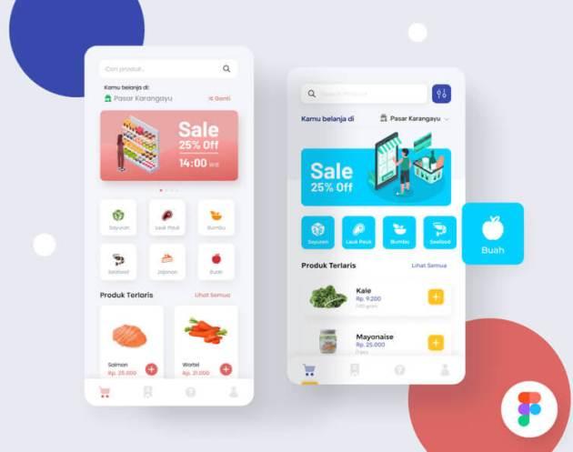 Marketplace App Design- uifreebies.net