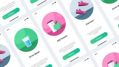 Onboarding – Health & Fitness App- uifreebies.net