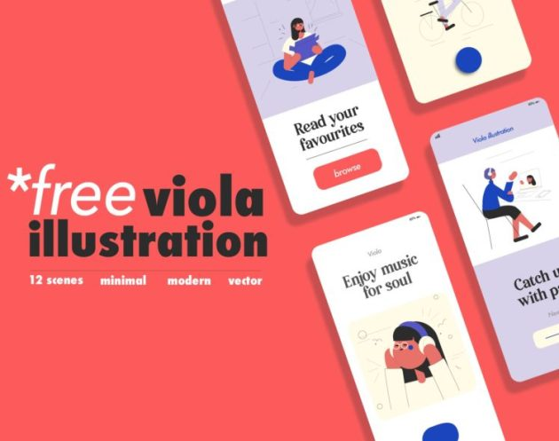12 Character Free Illustrations