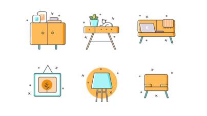 Furniture Free Icons Set