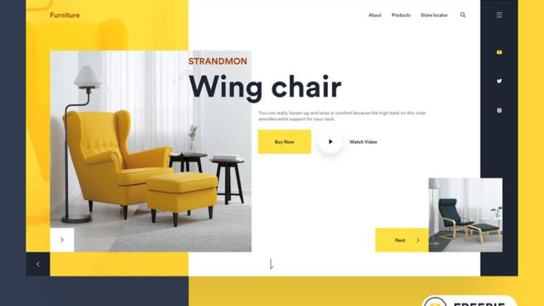 Furniture Web UI Kit Free