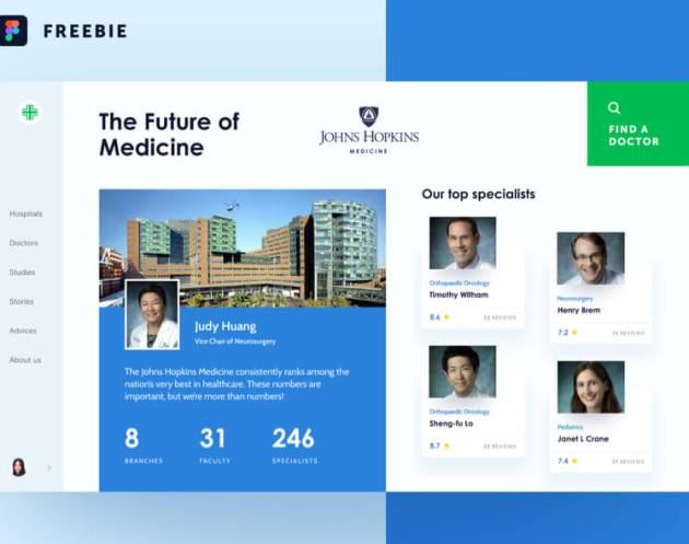 Medfinder Concept Free for Figma