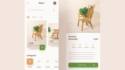 Natur Furniture App Free for Figma