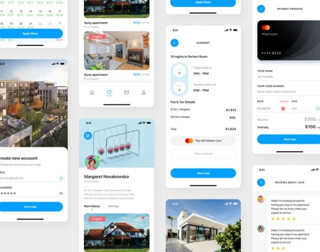 Real Estate UI Kit Free for Figma