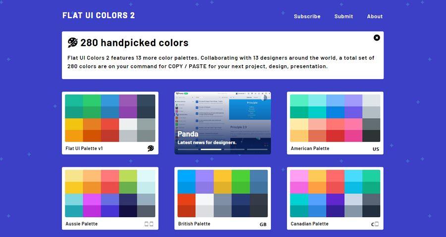 3. Flat UI Colors - UI Freebies