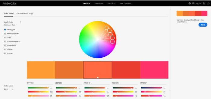 5. Adobe Color CC - UI Freebies