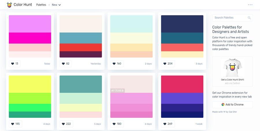 7. Color Hunt - UI Freebies