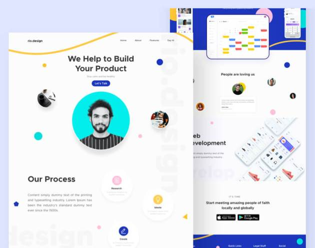 Drago Design Agency Landing Page