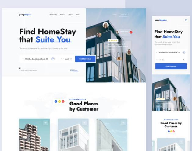 Find Homestay Web Design Free