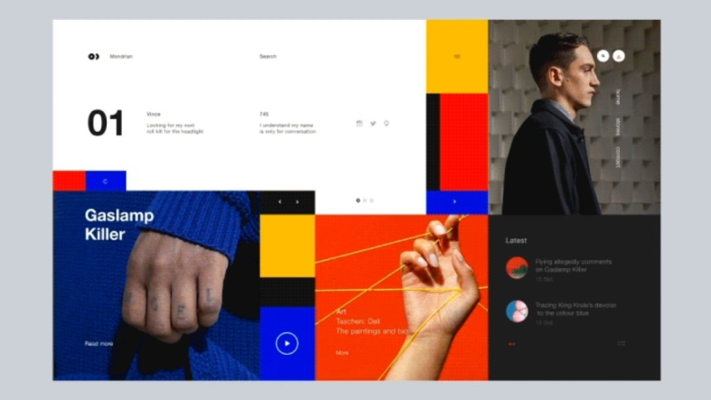 Mondrian - UI Freebies