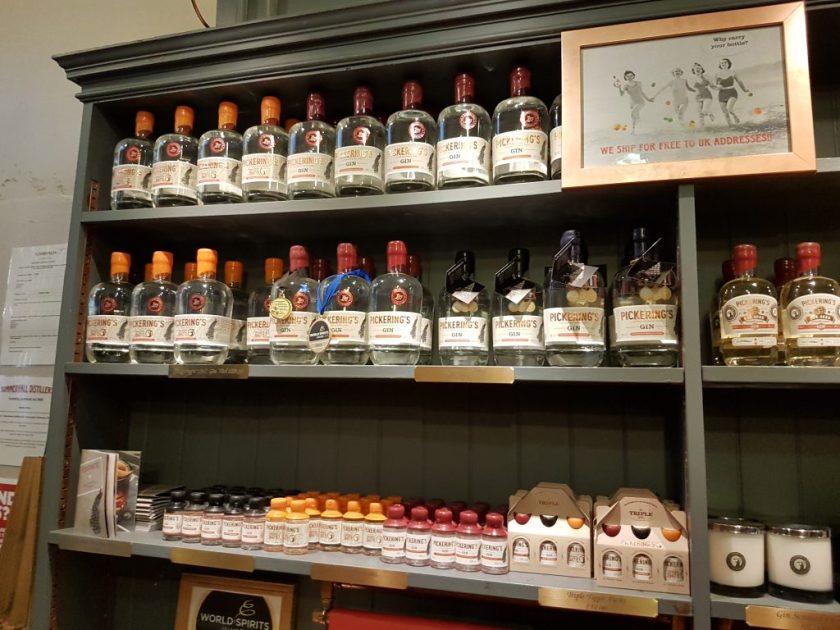 Het assortiment van Pickering's Gin.