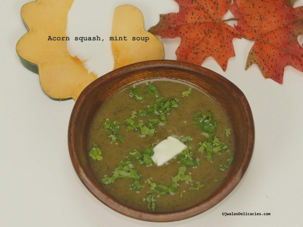 Acorn Squash Mint Soup