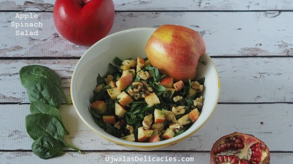 Spinach, apple salad