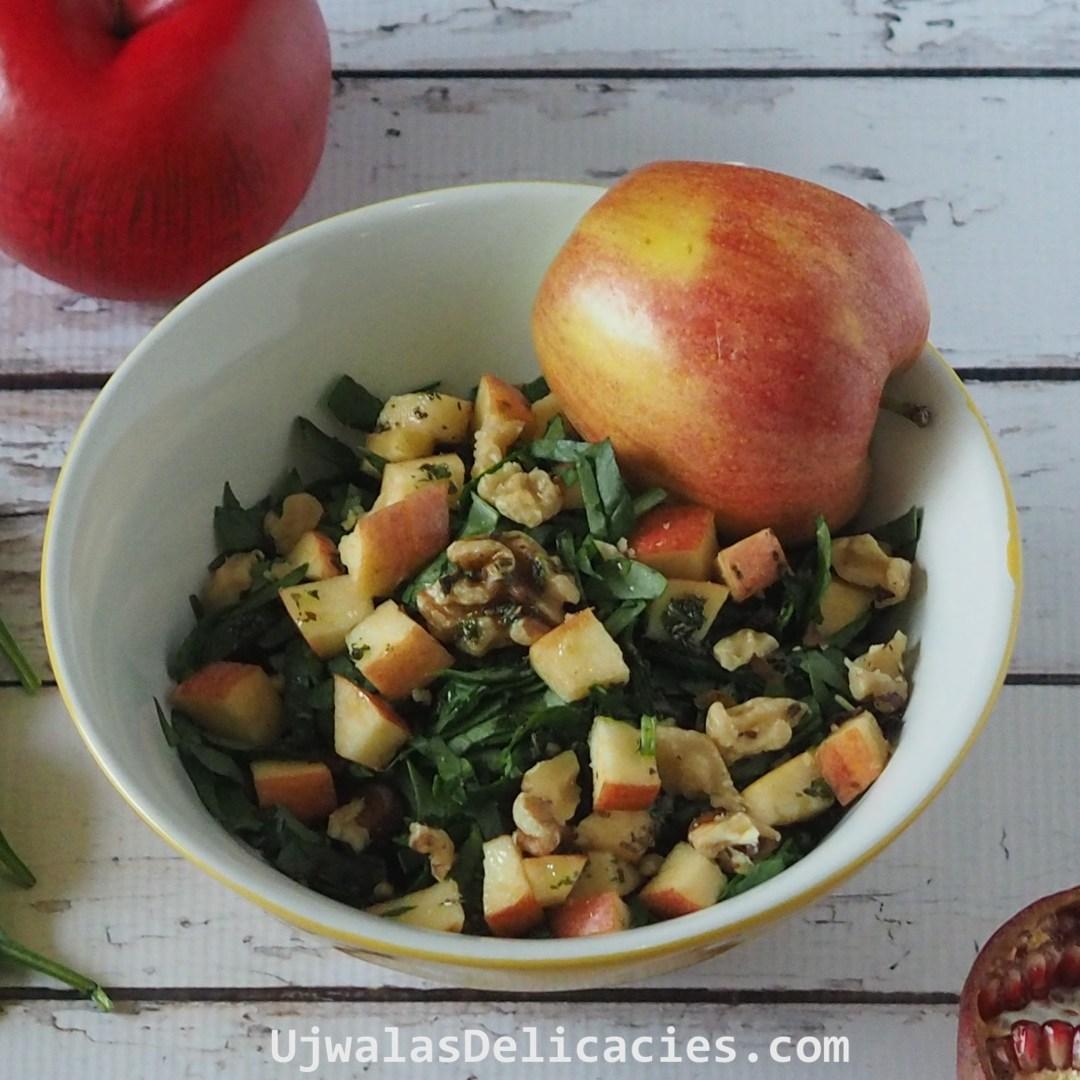 Apple, spinach salad
