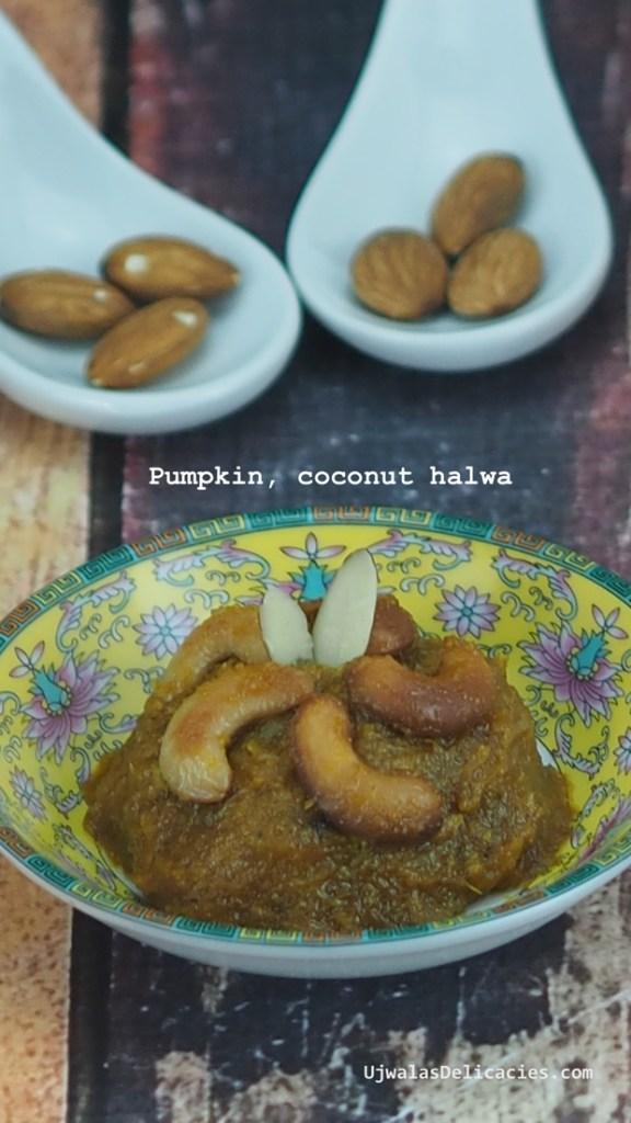 Pumpkin, coconut Halwa