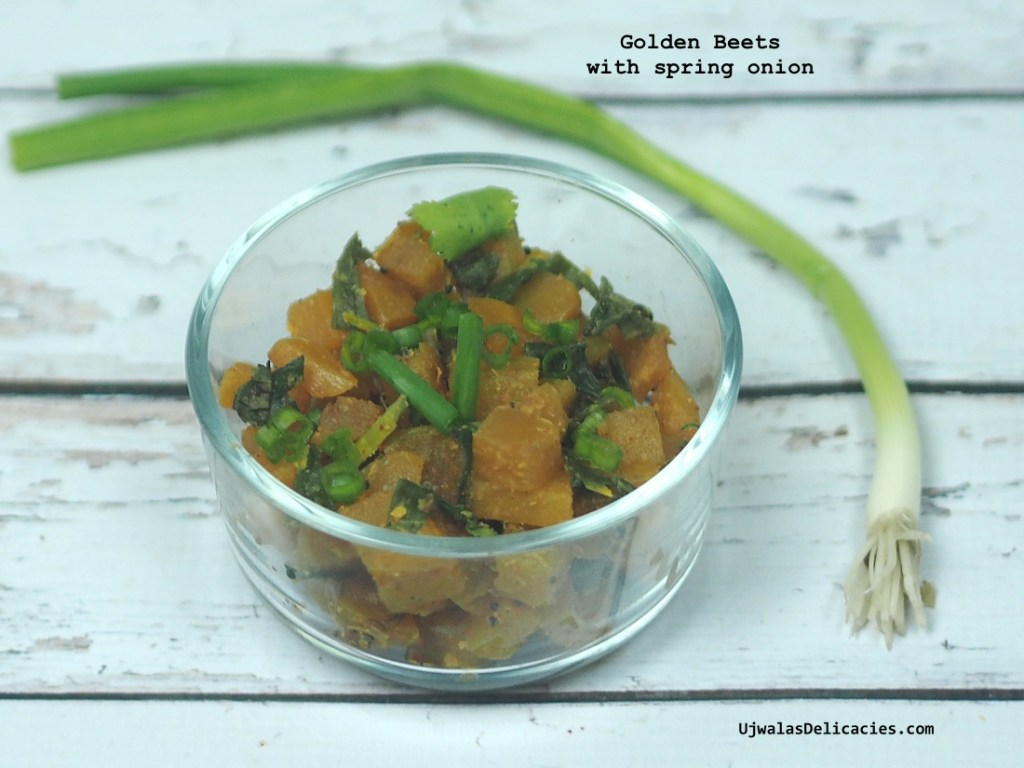 Golden Beets with Spring Onion