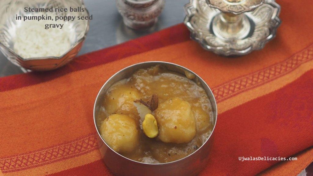 Rice balls in Pumpkin gravy