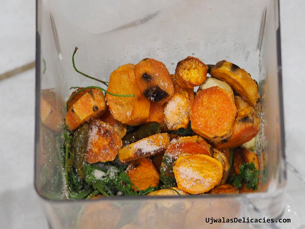 Sweet Potato Cilantro In blender