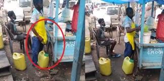 urine in panipuri
