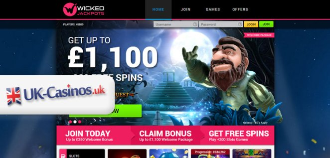 New UK Casino: Wicked Jackpots