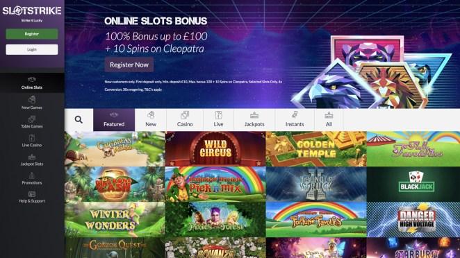 New Slots Site - SlotStrike