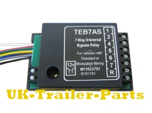 7 Way universal bypass relay wiring diagram | UKTrailerParts