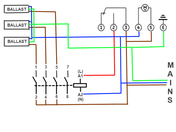 diagram lighting contactor ballast wiring diagrams full