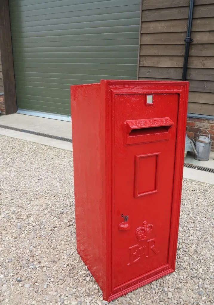 Very Large Antique Wall Mounted Post Box With Rear Door