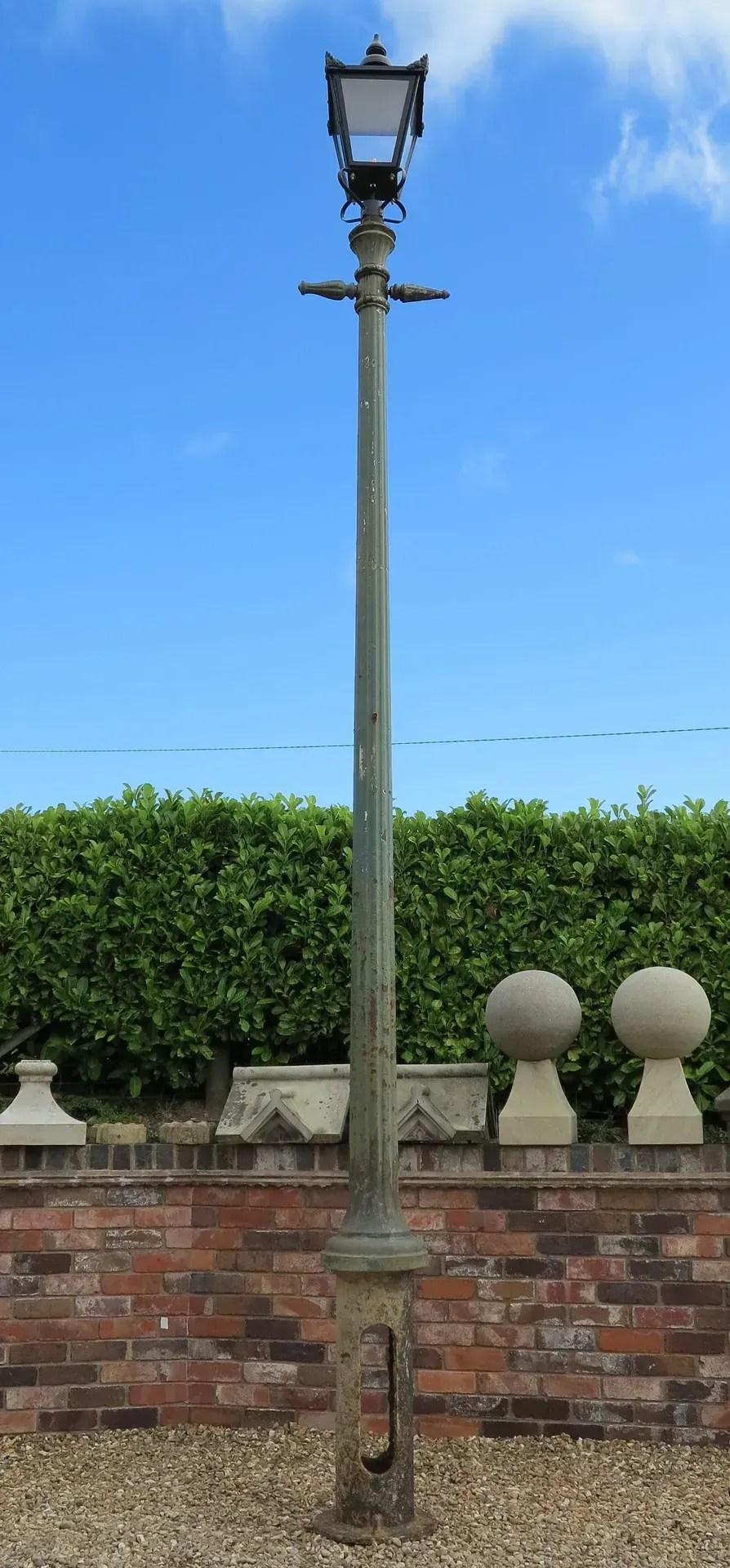 Original Outdoor Reclaimed Cast Iron Street Lamp Lampost