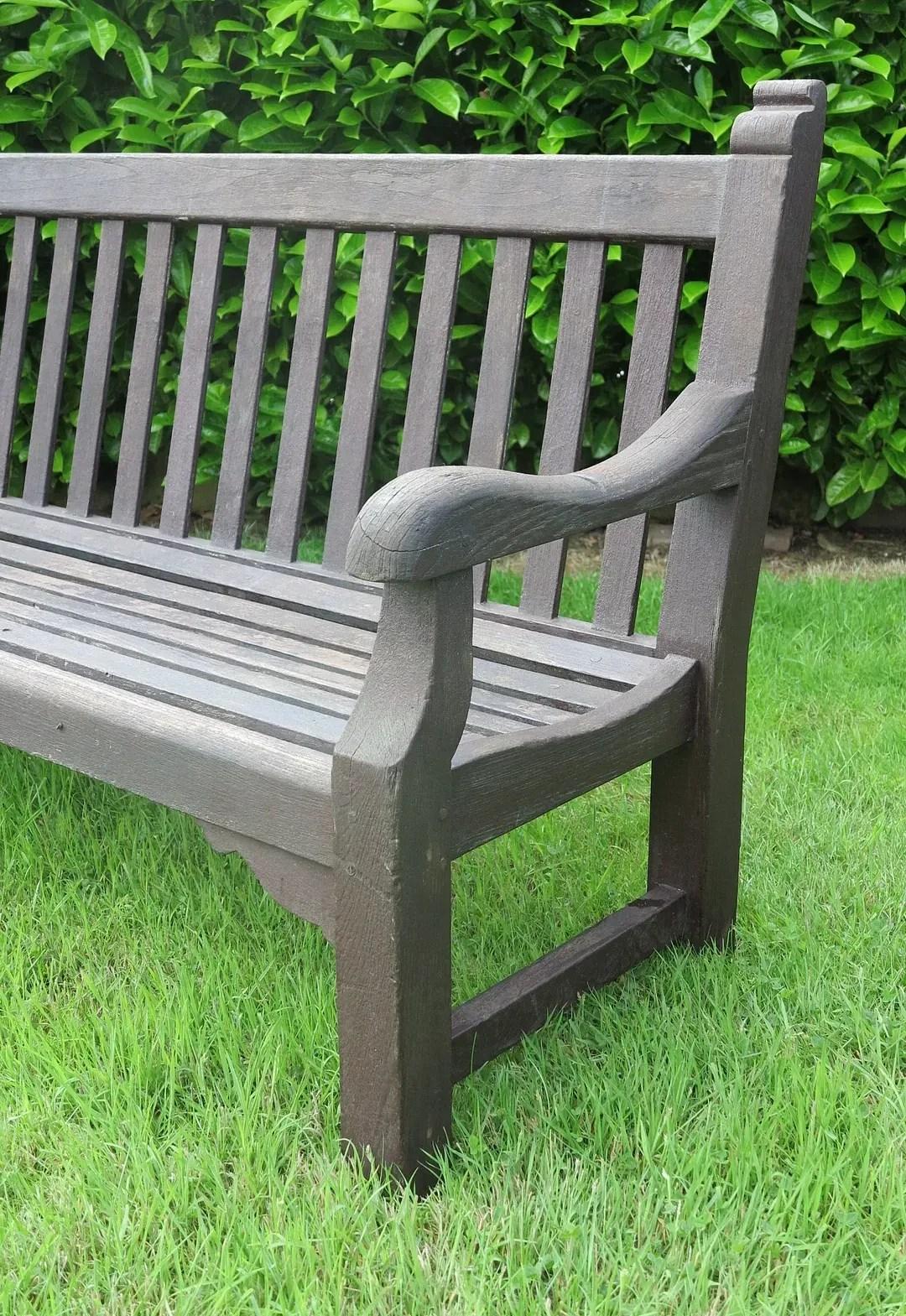 Large Vintage Teak Garden Outdoor Bench