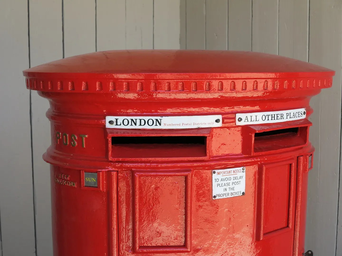 Red Royal Mail Original Double Cast Iron Pillar Box