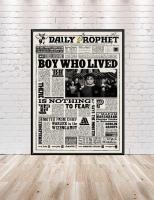 Boy Who Lived Poster Daily Prophet Newspaper Poster