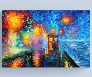 Mysterious Man at beautiful Rainbow Place Art Print