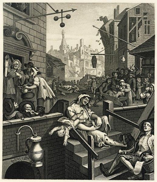 La folie du gin dans le Londres du 18e siècle